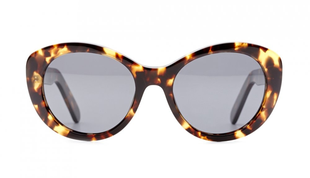 Affordable Fashion Glasses Round Sunglasses Women South Beach Sea Tortoise Front