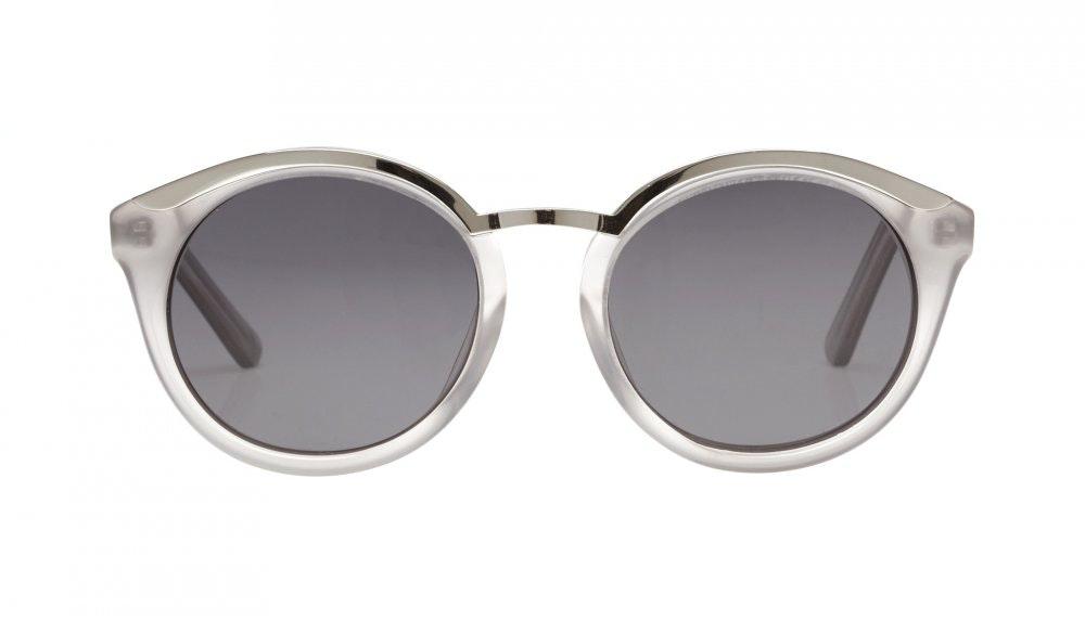 Affordable Fashion Glasses Round Sunglasses Women Lunar Smoke Front