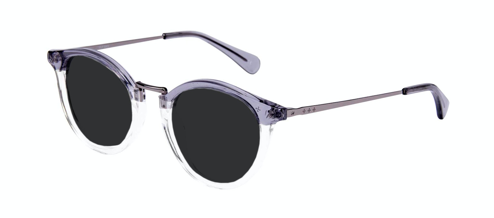 Affordable Fashion Glasses Round Sunglasses Women Self Grey Tilt