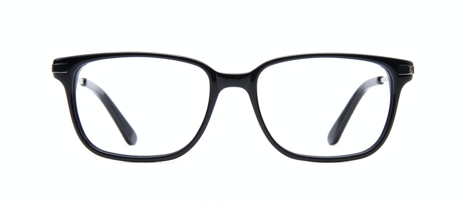Affordable Fashion Glasses Rectangle Eyeglasses Men Trade Black Front