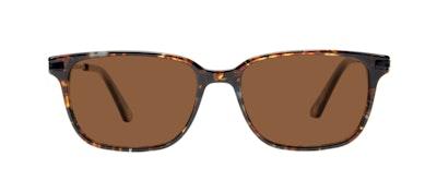 Affordable Fashion Glasses Rectangle Sunglasses Men Trade Mahogany Front