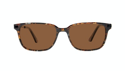 Affordable Fashion Glasses Rectangle Sunglasses Men Trade Mahogany Front