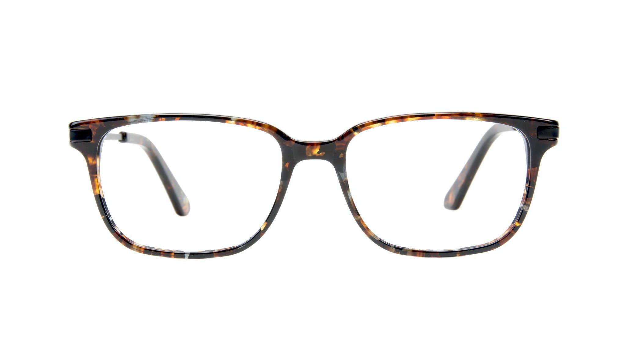 Affordable Fashion Glasses Rectangle Eyeglasses Men Trade Mahogany Front